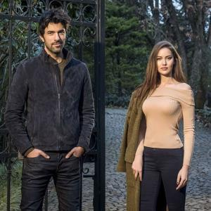 Engin Akyurek and Fahriye Evcen