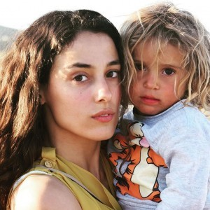 Cansu Tosun and child
