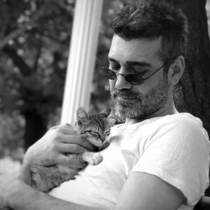 Caner Cindoruk and kitty cat