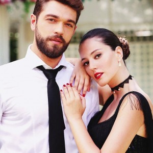 Pelin Akil with Turkish Actor