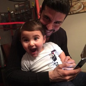 Berk Oktay with smile baby