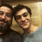 Burak Deniz with fan