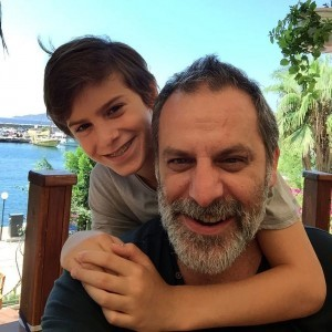 Ozan Guven and his son