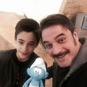 ufuk ozkan with smurfs