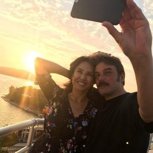 ufuk ozkan and his wife selfy on holiday