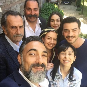 Selim Bayraktar and his actor friends