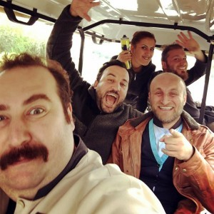 Ferit Aktug and his actor friends