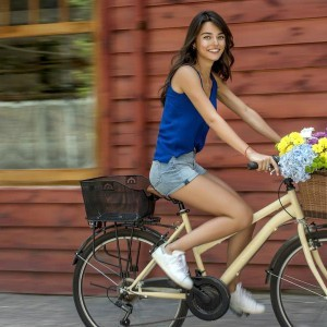 ayca aysin turan riding bicycle