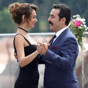 Seda Bakan and Mustafa Ustundag (Bana Sevmeyi Anlat Turkish Drama)