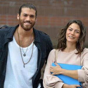 Can Divit and Sanem Aydin in Erkenci Kus