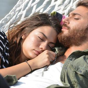 Sanem and Can are Sleeping